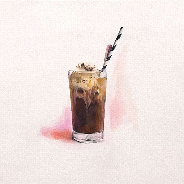 We lack artist talent ourselves but love it when we see our dessert imagined by others! Thanks for sharing your sketch of our iced coffee @fliss_byrne  we love ❤️ it!