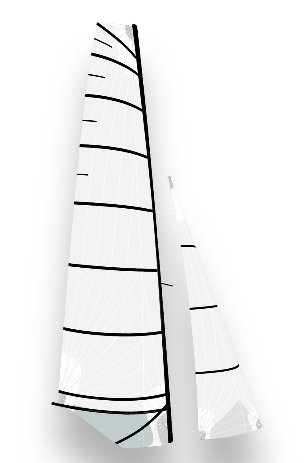 F18 - F18 DS MainsailRadial cut / Polyester laminate9 battensPrice : 2150 €*Aluminium boom : 560 €*F18 jibRadial cut / Pentex laminate3 battensPrice : 640 €*F18 spinnakerRadial cut / Nylon or Polyester2 retrieving patchesPrice : Nylon 890 €*Polyester 1190€*