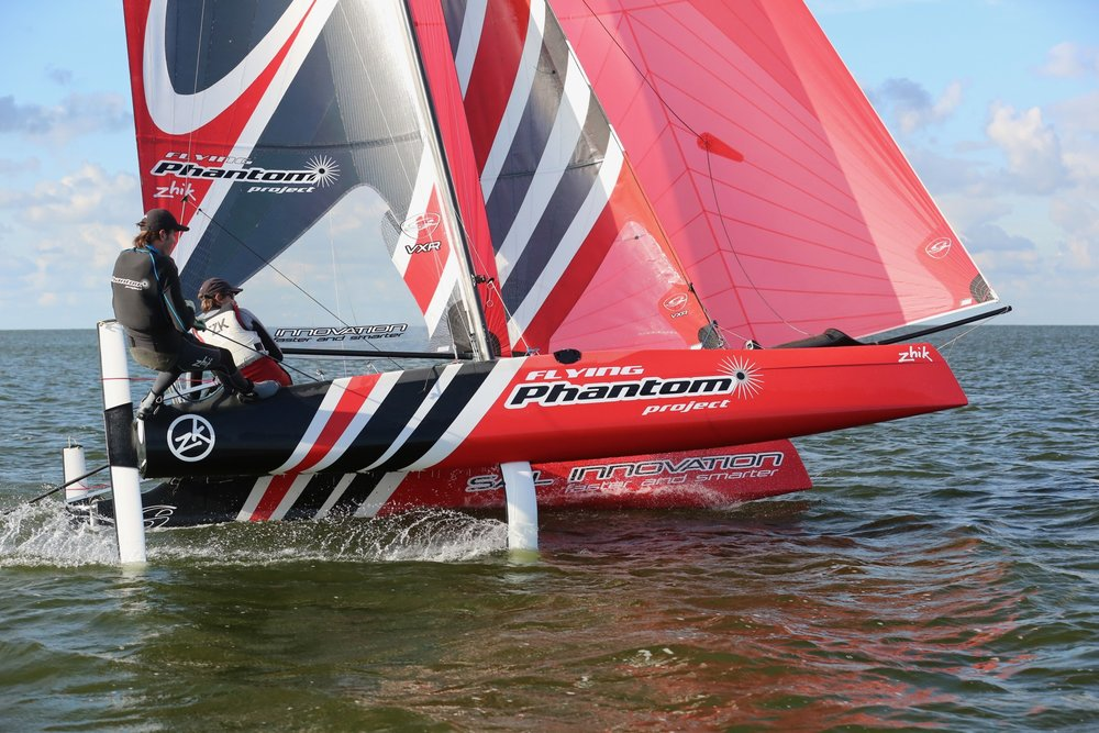 July 2012 - The first Flying Phantom prototype hits the water