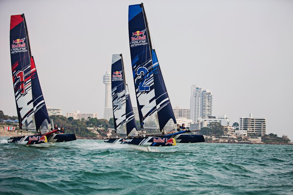 Spring 2015 - Launch of the Red Bull Foiling Generation program for the youth