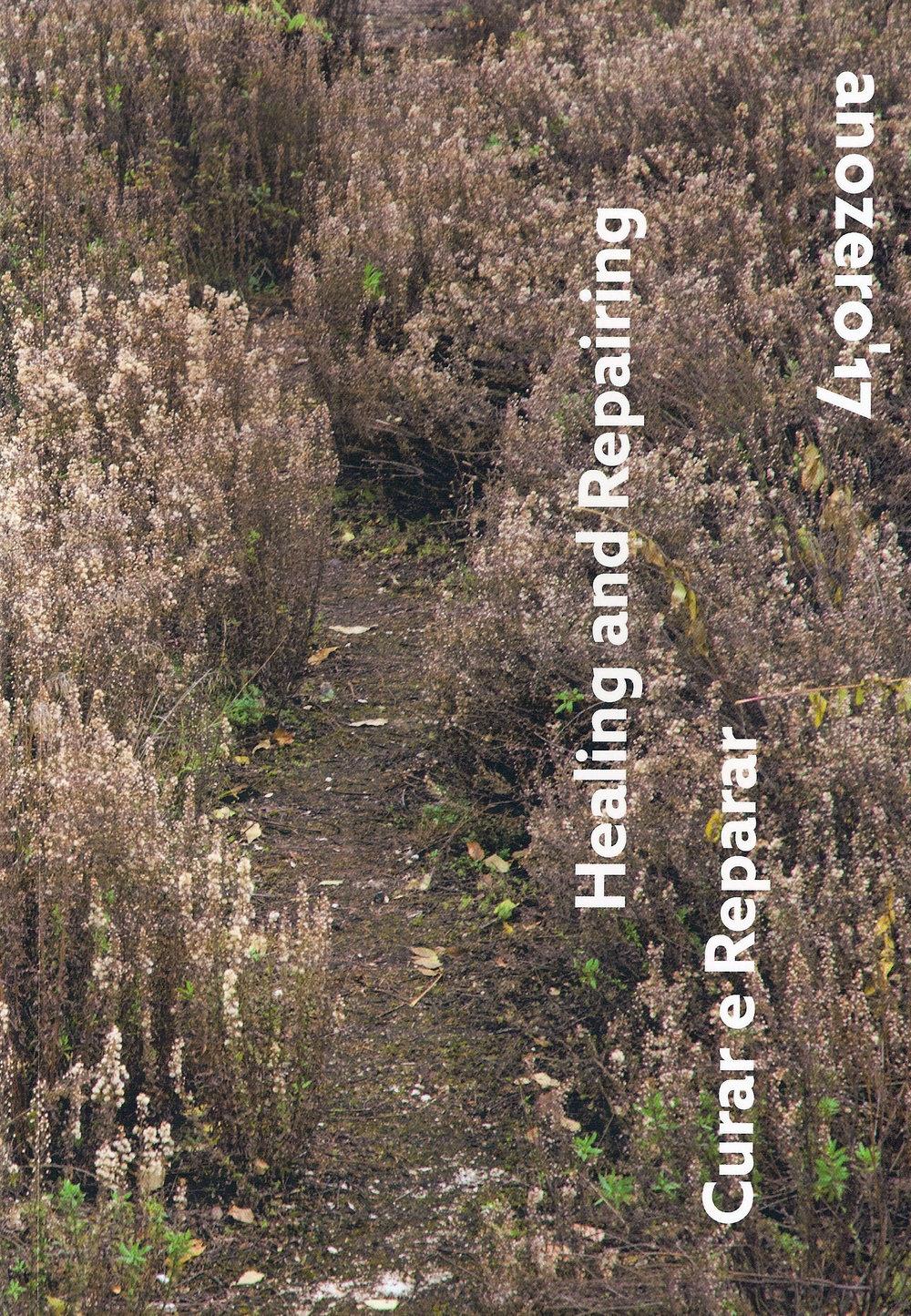 """- Anozero'17 - Healing and Repairing, was organised by the Círculo de Artes Plásticas de Coimbra (CAPC), the City Hall of Coimbra, and the University of Coimbra, with Chief Curator - Delfim Sardo and Associate Curator - Luiza Teixeira de Freitas.The 2nd Coimbra Biennial of Contemporary Art was on display in several spaces from Nov 13, 2017, 4 p.m to Dec 30, 2017, 6 p.m.Anozero'17 – """"Healing and Repairing"""" brought together works by Alexandre Estrela, Ângela Ferreira, Buhlebezwe Siwani, Céline Condorelli, Danh Vo, Dominique Gonzalez-Foerster, Ernesto de Sousa, Fernanda Fragateiro, Francis Alys, Franklin Vilas Boas, Gabriela Albergaria, Gustavo Sumpta, Henrique Pavão, James Lee Byars, Jill Magid, Jimmie Durham, João Fiadeiro, João Onofre, Jonathan Uliel Saldanha, Jonathan de Andrade, José Maçãs de Carvalho, Juan Araujo, Julião Sarmento, Kader Attia, Louise Bourgeois, Lucas Arruda, Manon Harrois & Sara Bichão, Maria Arsanios, Matt Mullican, Paloma Bosquê, Pedro Barateiro, Rubens Mano, Salomé Lamas, Sara Bichão, William Kentridge.Catalog design by Joana Monteiro."""