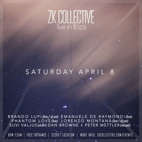 April 8 / Ibiza Live Visuals at ZK COLLECTIVE for  PHANTOM LOVE