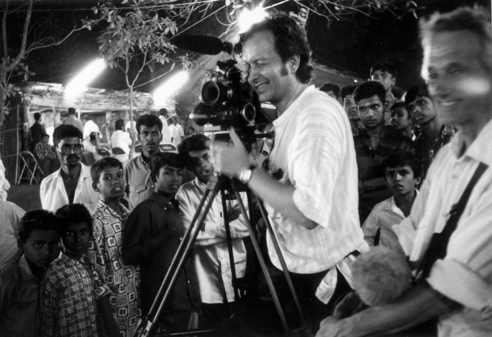 Peter during the shooting of  Gambling, Gods and LSD  in India.