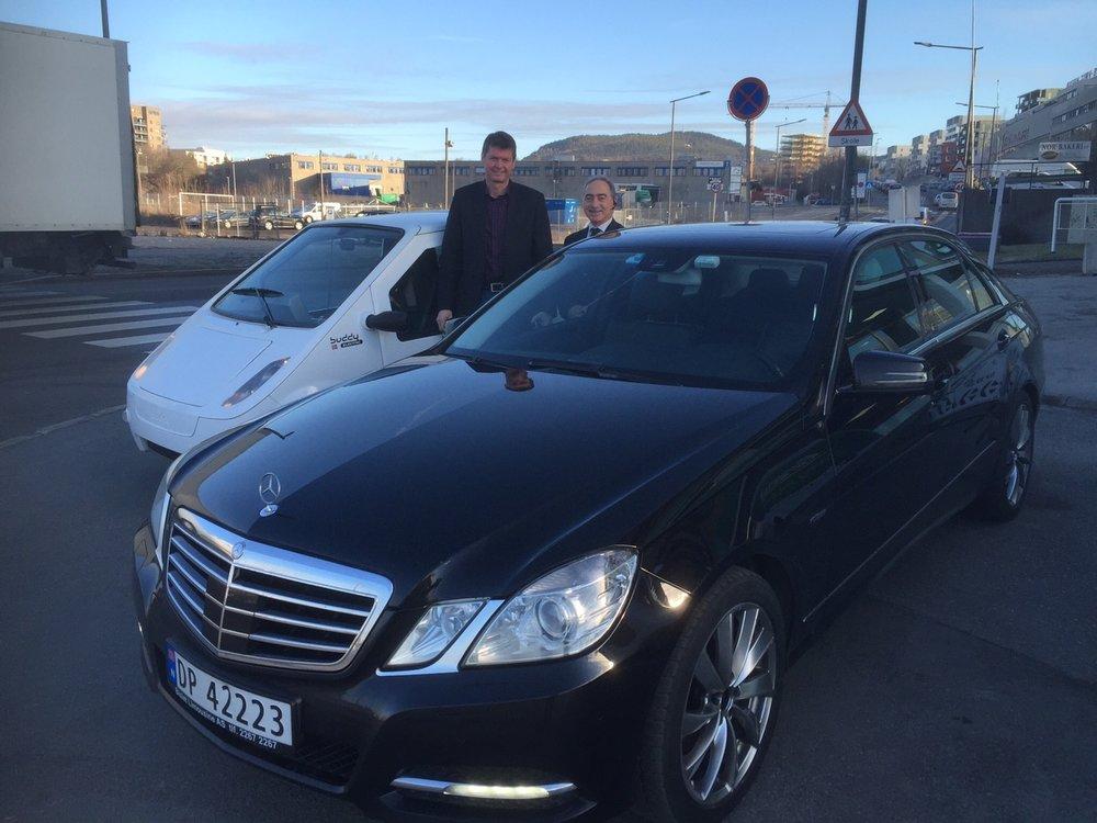 HENTET I LIMOUSIN: Tor Einar er klar for avreise fra Buddy Electric på Økern