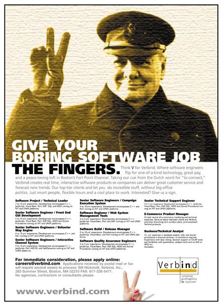 Verbind - Boston Recruitment Ad