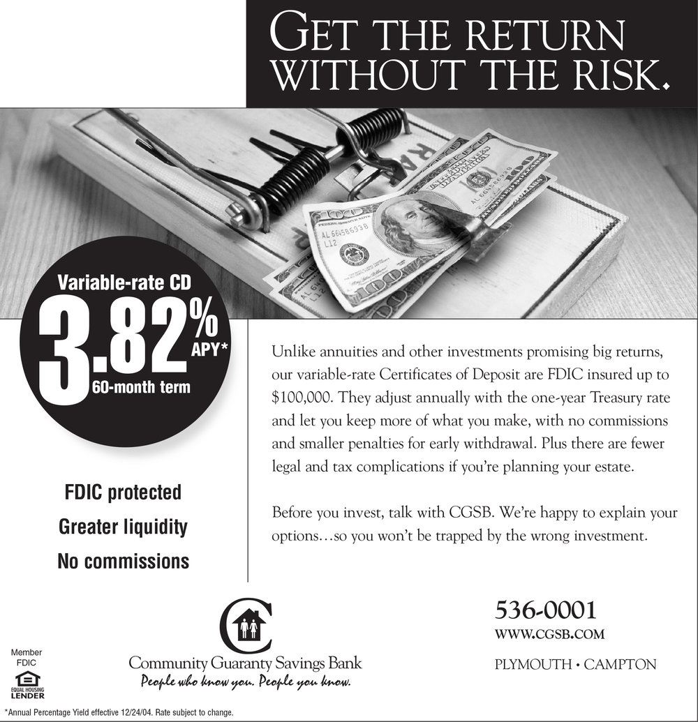 Community Guaranty Savings Bank - CD Ad