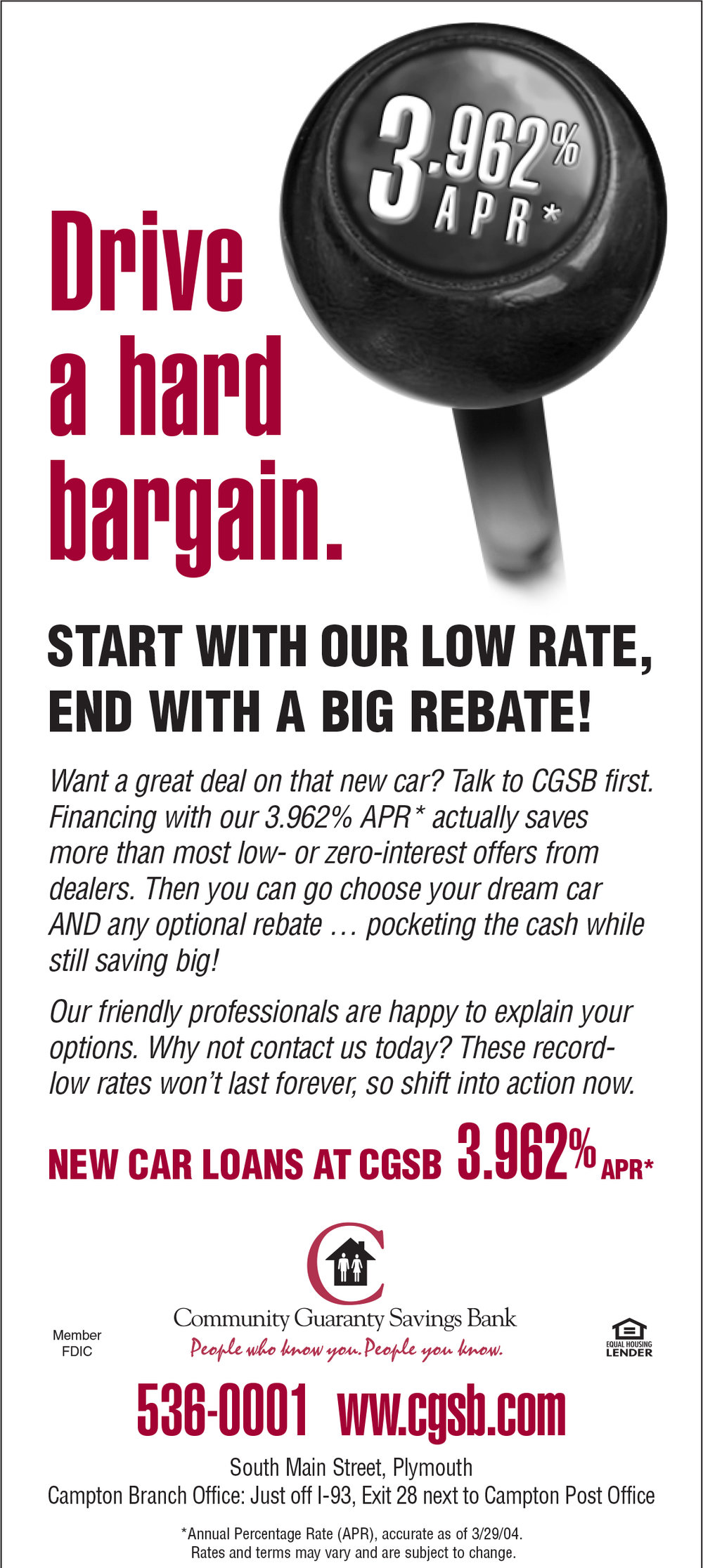 Community Guarantee Savings Bank - Statement Insert