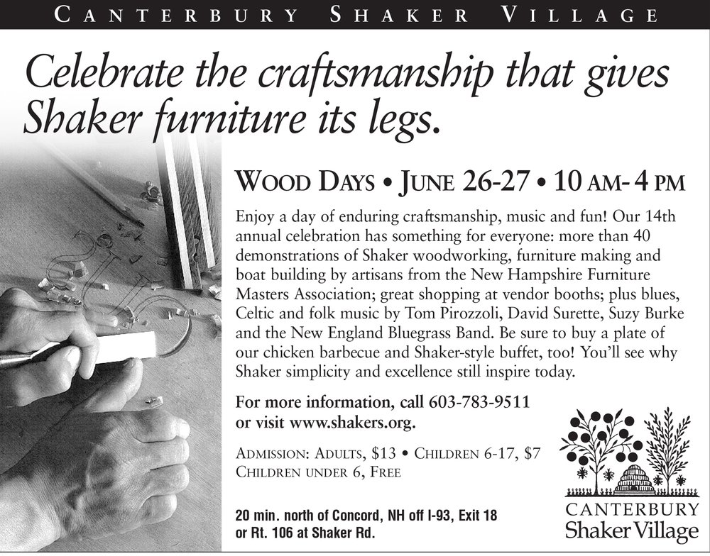 Canterbury Shaker Village - Newspaper Ad