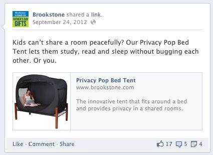 Brookstone Corp. - Facebook Post