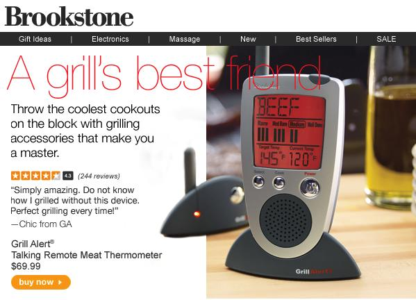 Brookstone - Grilling Products Email