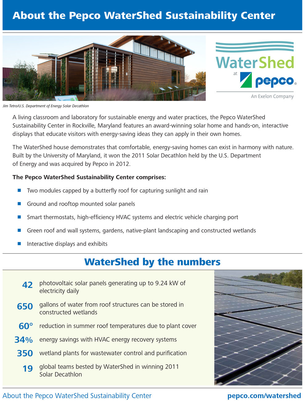 Pepco - WaterShed Fact Sheet