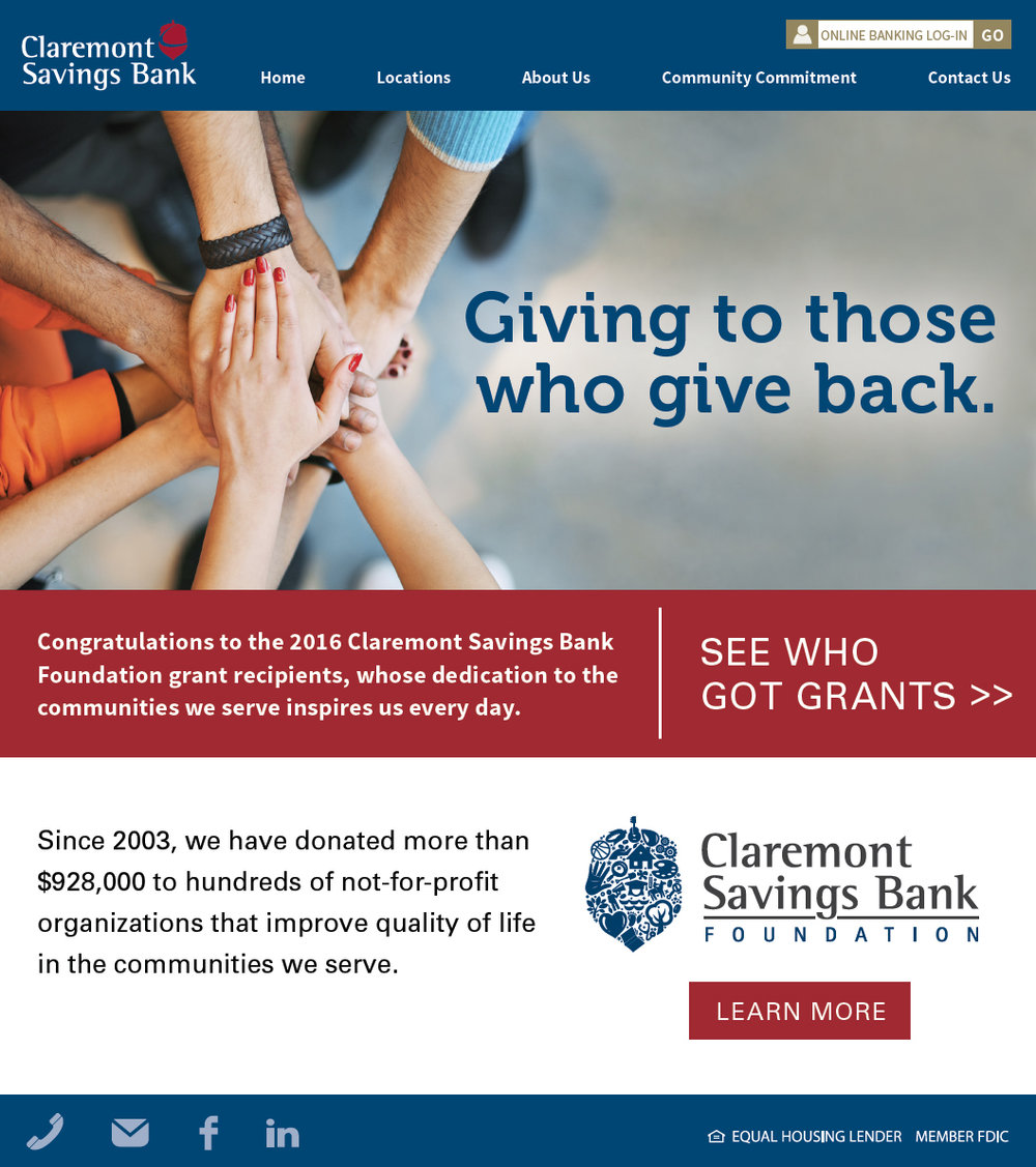 Claremont Savings Bank - Grants Email