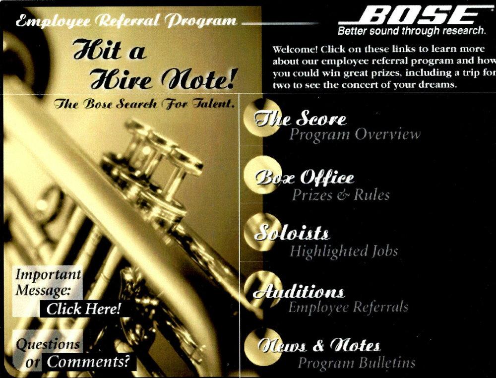 Bose - Employee Referral Website