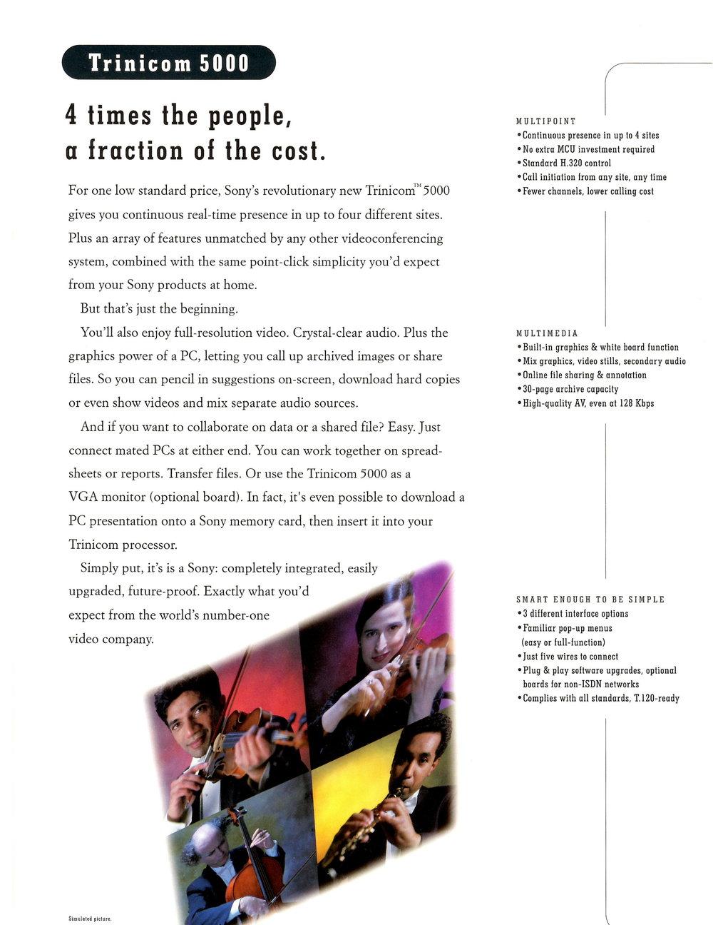 Sony Videoconferencing Brochure