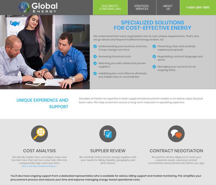 B2B Website for Energy Broker