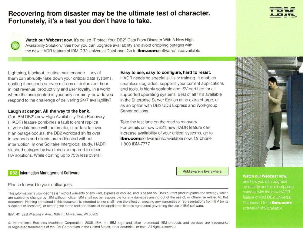 IBM eFlyer with Webcast Offer