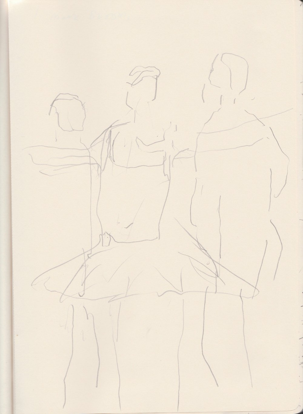 "Drawing from stage rehearsals of Ballet Black's production of ""A Dream Within A Midsummers Nights Dream"""