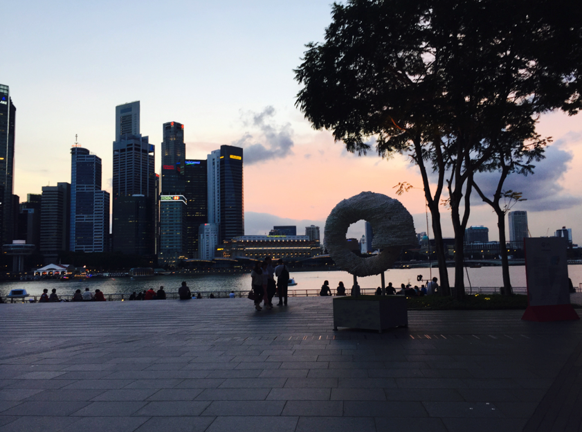 Ouroboros (evening view at Marina Bay Sands), Nicola Anthony, 2015