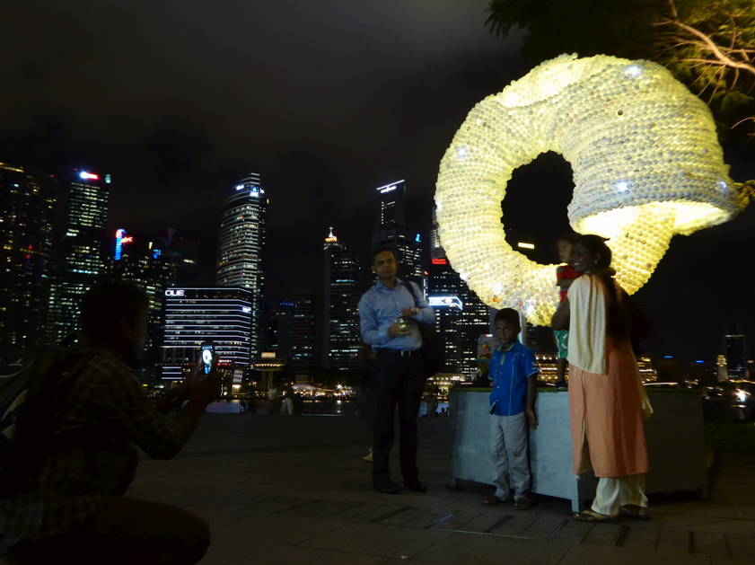 Ouroboros (night view at Marina Bay Sands), Nicola Anthony, 2015