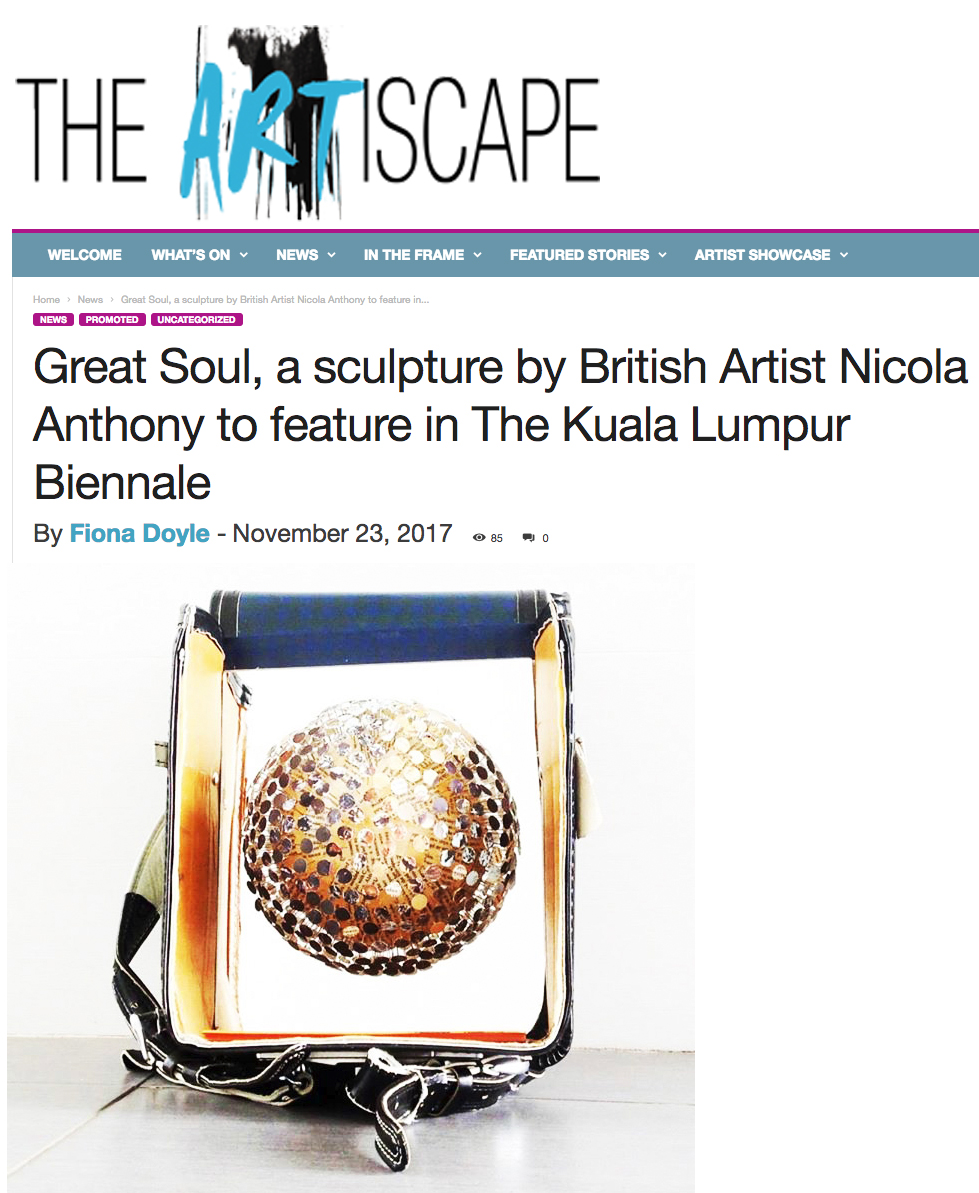 The Artiscape Magazine feature Great Soul by Nicola Anthony, at KL Biennale, 2017