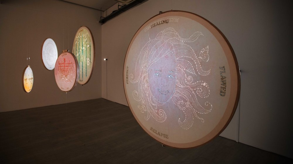 Clockwork moons series, art by Nicola Anthony (c), 2017, commissioned by Singapore Art Museum, 2
