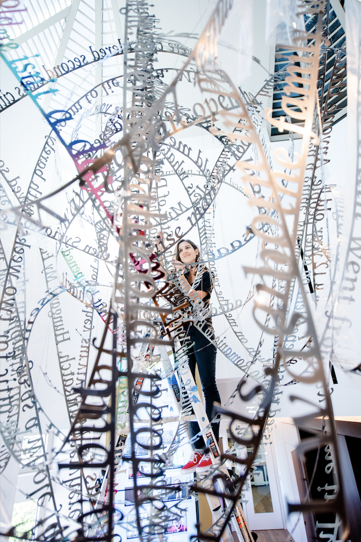 work in progress...Remembering our Father's words, 2018, (c) Nicola Anthony. Stainless steel permanent sculpture, thumbnail_COPYRIGHT NICOLA ANTHONY_USC Shoah Foundation.png