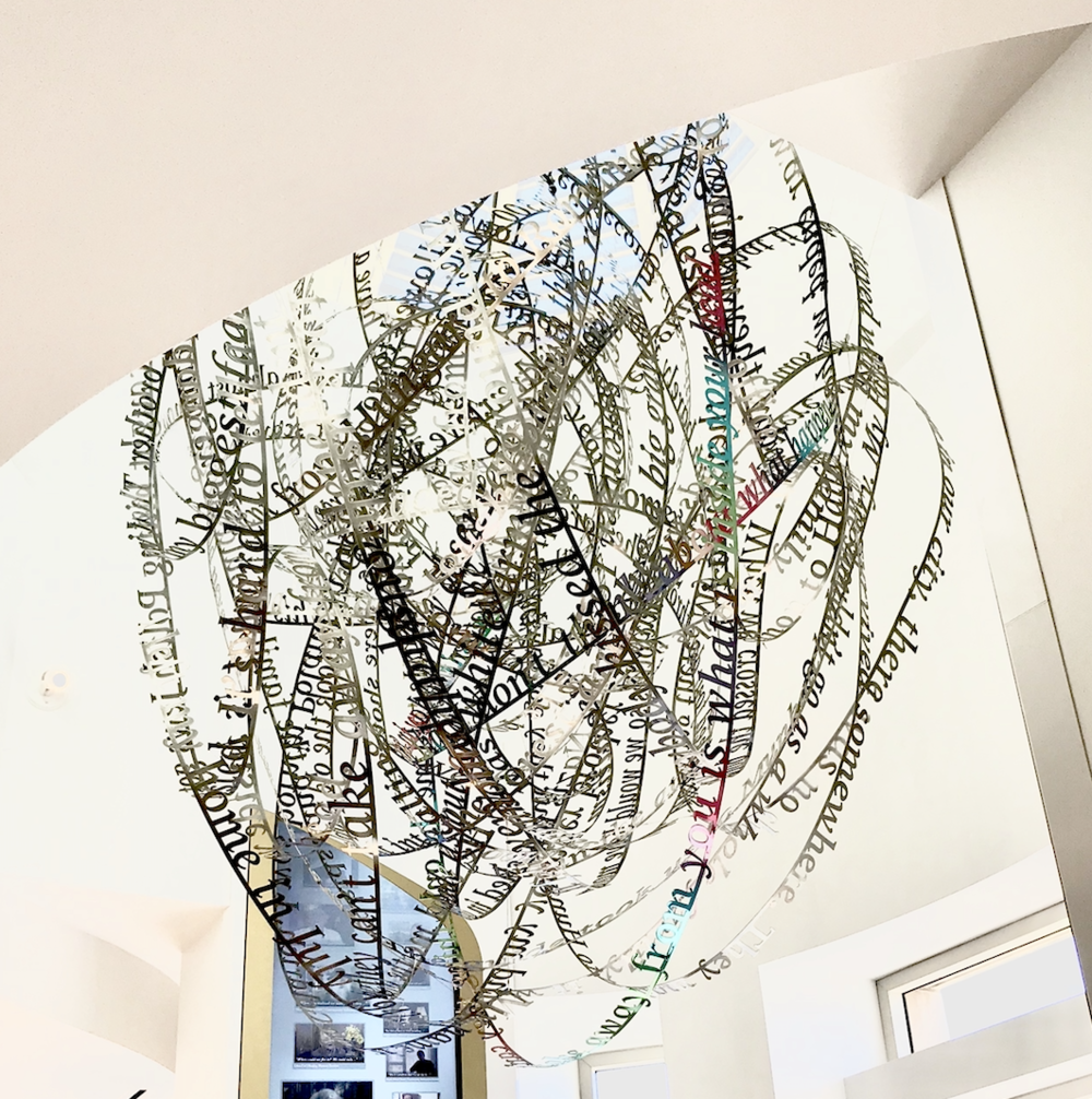 Remembering our Father's words, 2018, (c) Nicola Anthony. Stainless steel permanent sculpture, thumbnail_COPYRIGHT NICOLA ANTHONY_USC Shoah Foundation.png