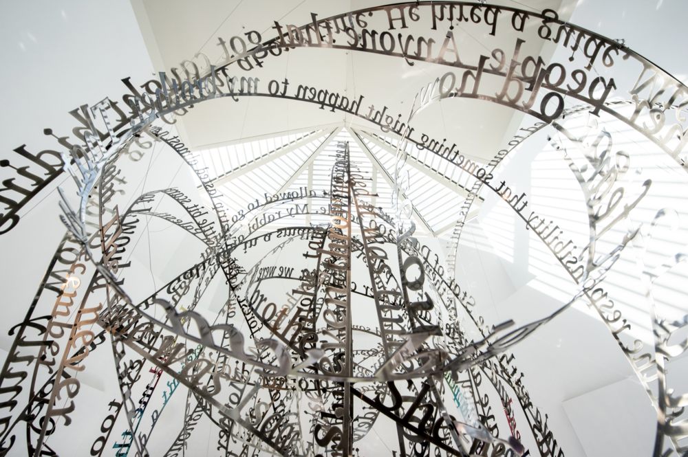 Remembering our Father's words, 2018, (c) Nicola Anthony. Stainless steel permanent sculpture, thumbnail_COPYRIGHT NICOLA ANTHONY_USC Shoah Foundation_7.png