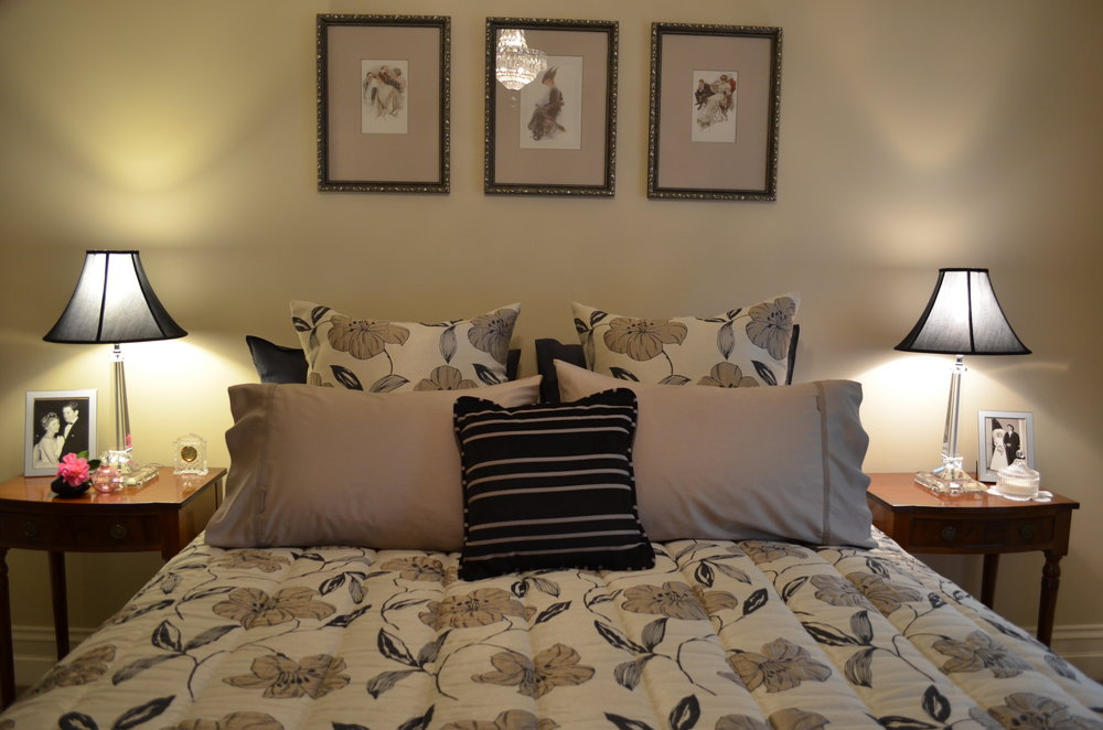 Carrie Deverson Interiors Bedroom Quilted Bedspead