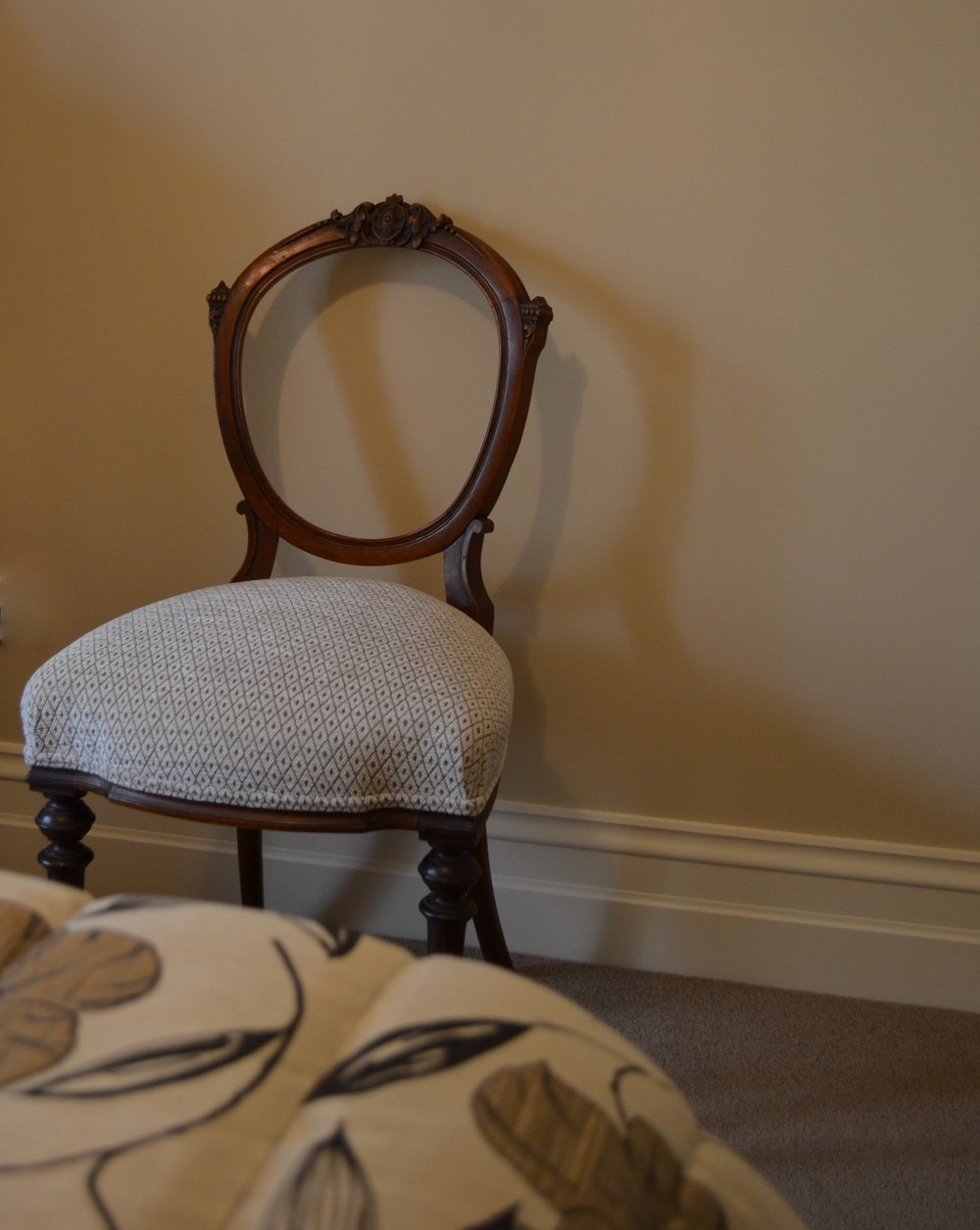 Carrie Deverson Interiors Reupholstered Chair