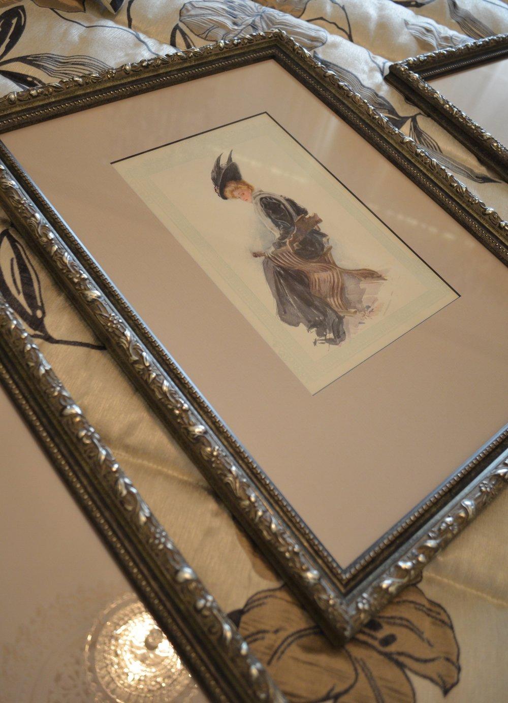 carrie Deverson Interiors Re Framed Antique Prints