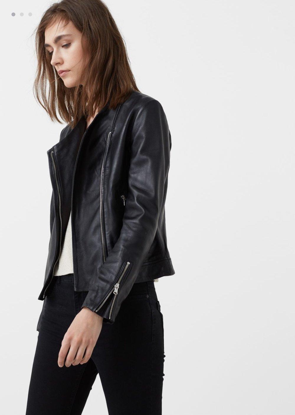 Last but by no means least, three leather jackets to finish off with, throw over a dress, trousers - fab to pick one up in the sales.