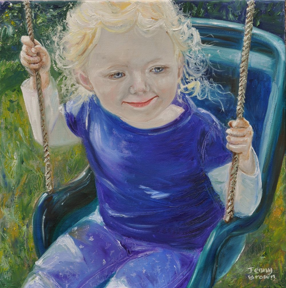 Swinging on a Star  Oil on Canvas 40x40cm
