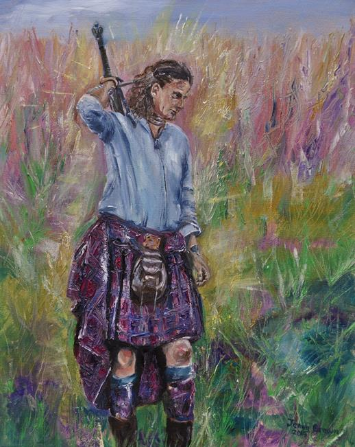 In the Plaid  OIl on Canvas  40x50cm  SOLD