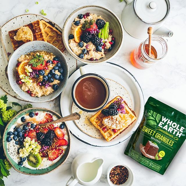 Ultimate breakfast sweetened with Whole Earth!  #wholeearthsweetener #wholeearth #stevia #happy #loveyourself #breakfast #delicious #healthyfood #healthylifestyle