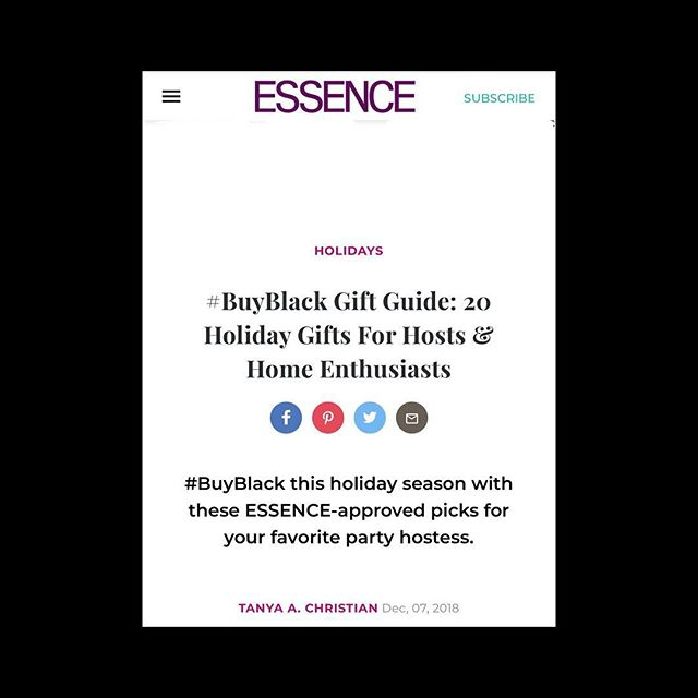 "CLIENT NEWS • Thank you to @essence for featuring @ivysteaco in your ""Gift Guide For Hosts & Home Enthusiasts"" Invited to a holiday party and not sure what to bring? Ivy's Tea Co herbal blends and natural sweeteners are the perfect gift!"