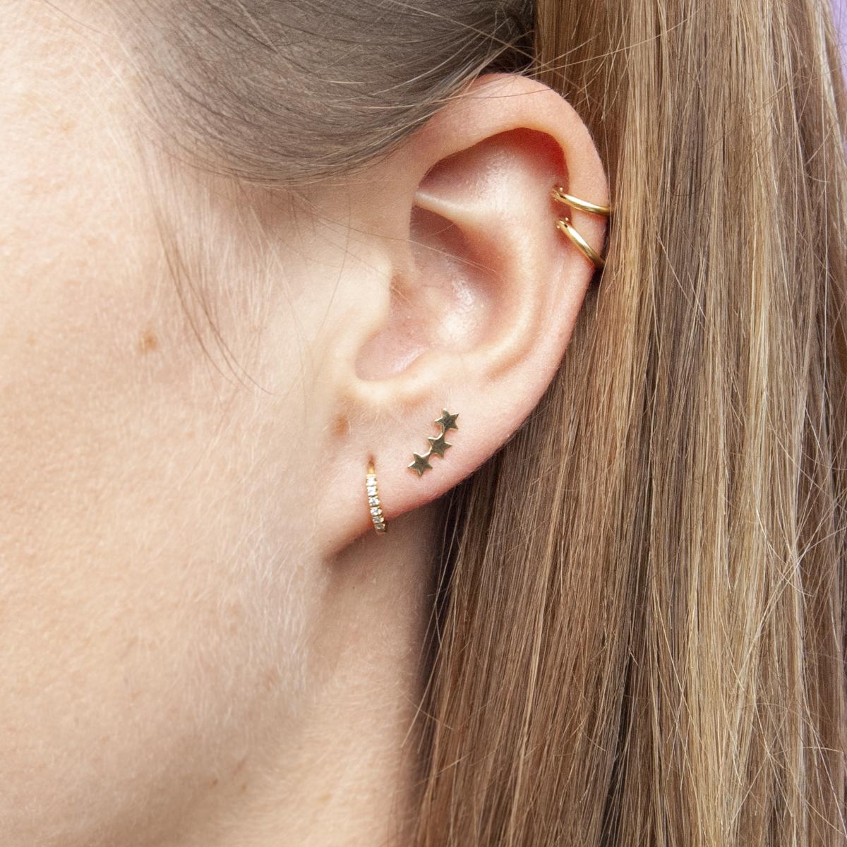 b59ef912e 9ct gold trio of star climber stud earrings — SEOL + GOLD