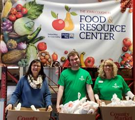 Food Insecurity Action Team making the healthy choice the easy choice at the John Coughlin Food Resource Center that serves the counties' food pantries.