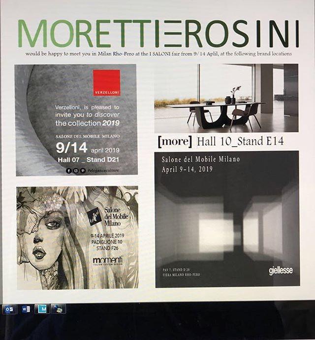 I SALONI Milano fair April 9/14, 2019
