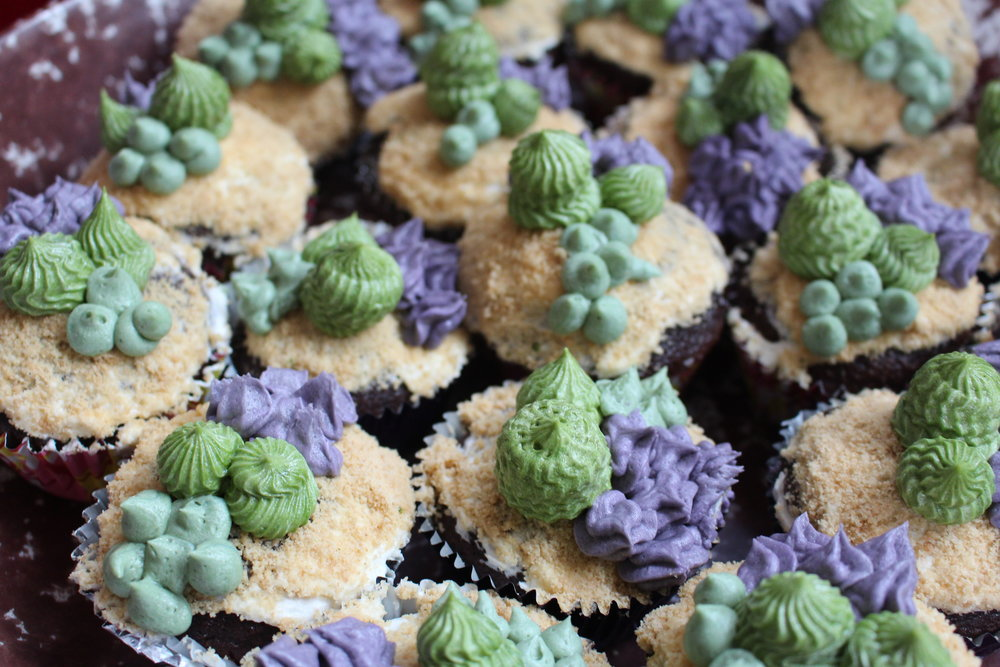 So, so, good! Adorable succulent cupcakes also by Dalanna!