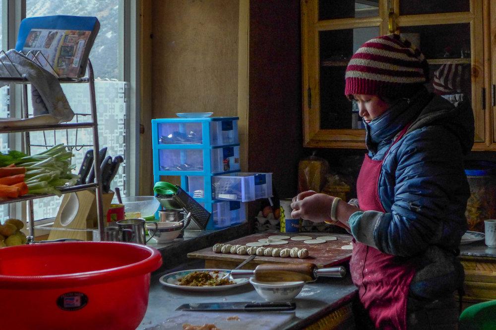 """Sapana Rai making homemade momo's""""."""
