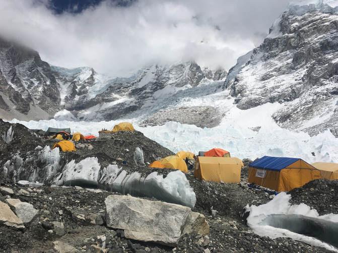 Base of Everest, 17,600ft