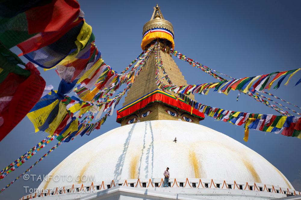 Explore the city of Kathmandu while walking amongst old World Heritage Sites