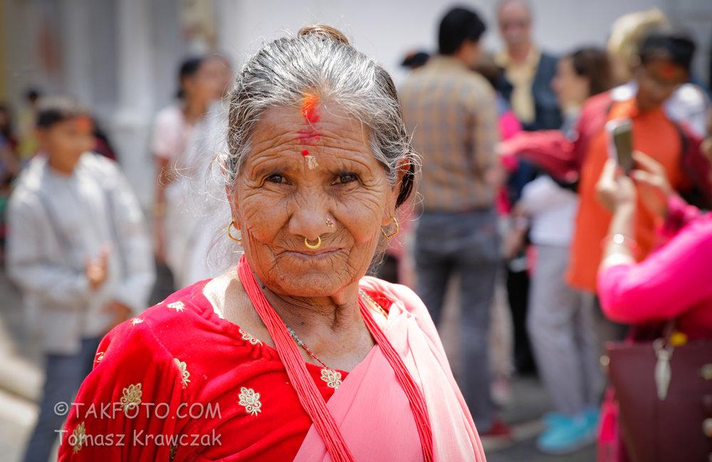 Local woman in Kathmandu