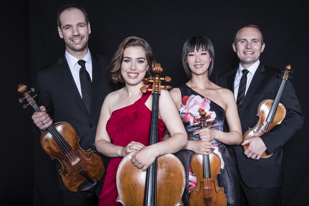 Jasper String Quartet , 2019 SPCMI Faculty. Photo by Dario Acosta.