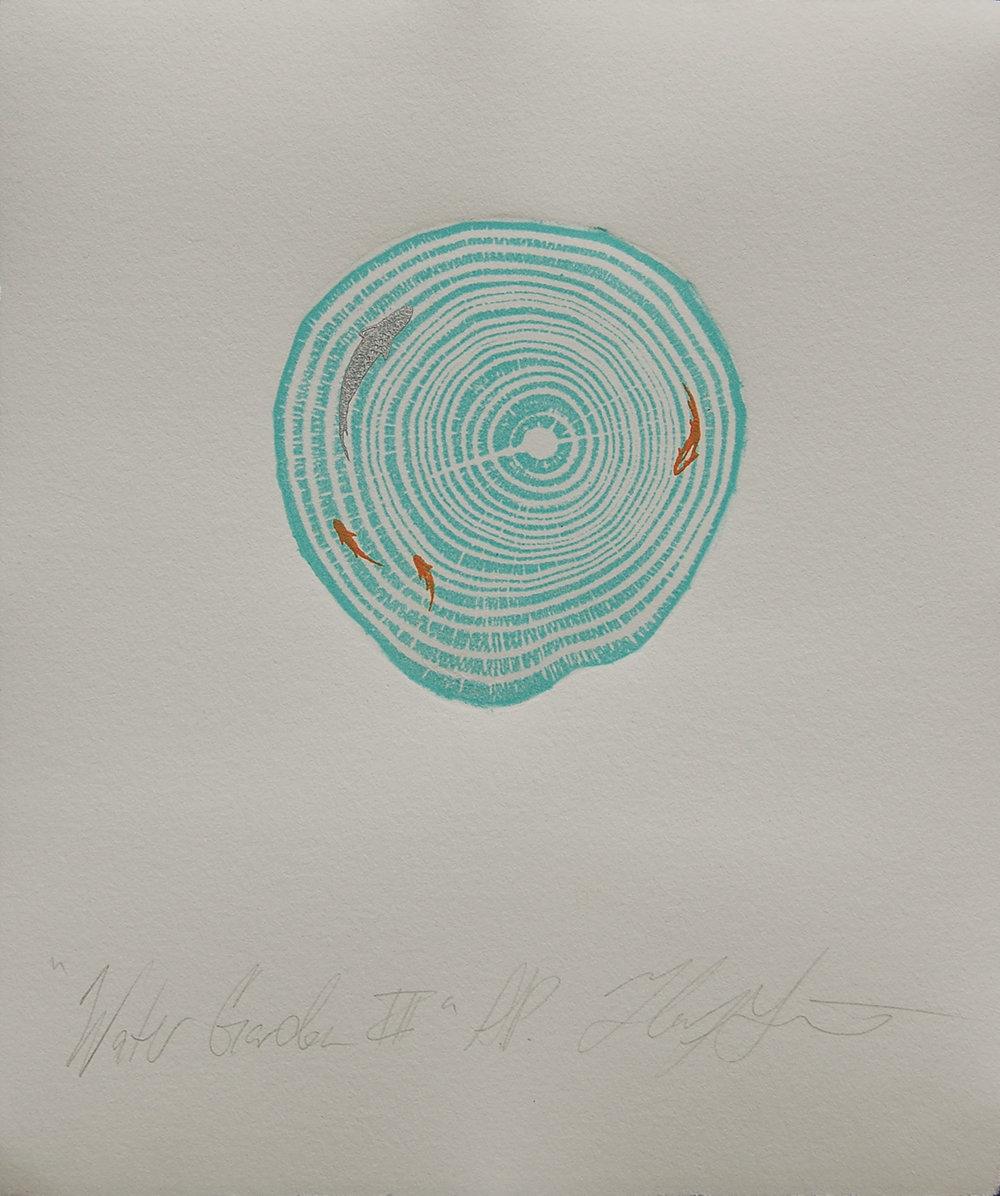 Helen Gotlib | Water Garden lll | Woodblock & Intaglio Printing on Paper