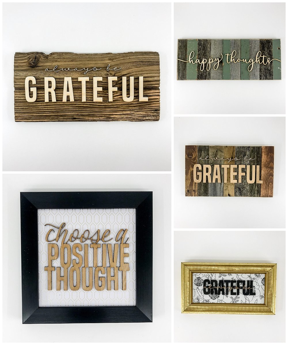 grateful rustic wall art