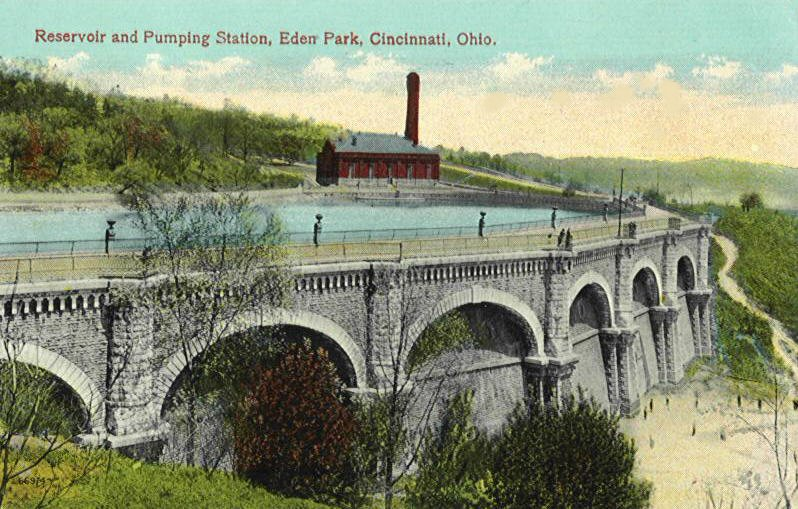 Eden Park Reservoir and Mt. Hope Pumping Station (1904-1951)