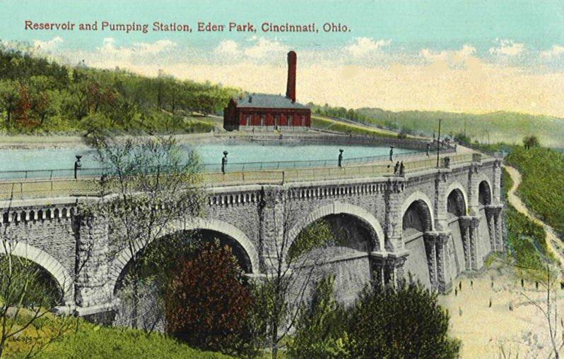 Eden Park Reservoir and Mt. Hope Pumping Station (1904-1951)