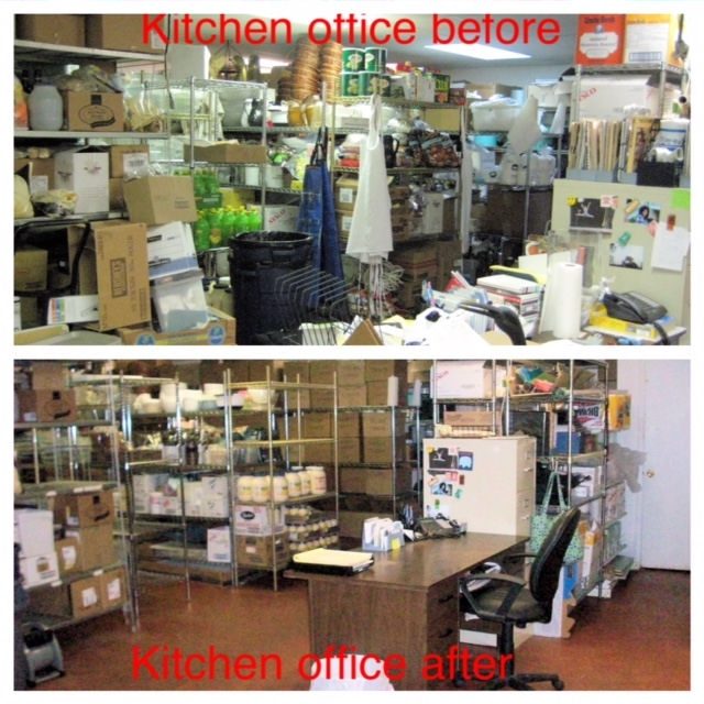 Catering company storeroom